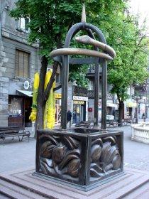 Kapija želja i Fontana želja, Trg mladenaca u Novom Sadu.